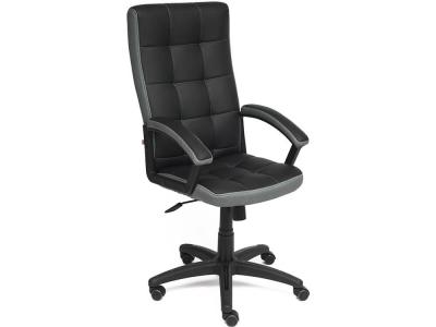 Кресло Trendy кож.зам + ткань Чёрный + Серый (36-6/12)