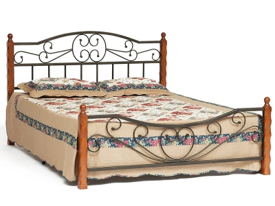 Кровать Amor (mod.9226) Queen Bed Красный Дуб