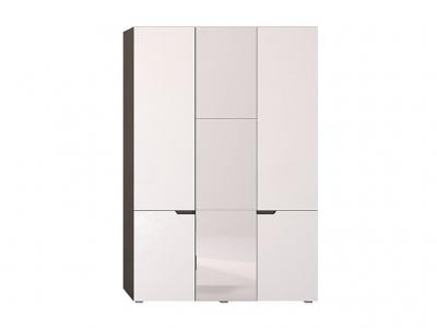Шкаф трехстворчатый Анталия Венге-Белый софт