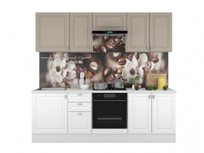 Кухонный гарнитур Ева 2400 Белый Софт-Мокко