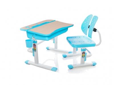 Парта и стульчик Mealux EVO-03 BL голубая