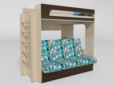 Кровать двухъярусная №9 венге