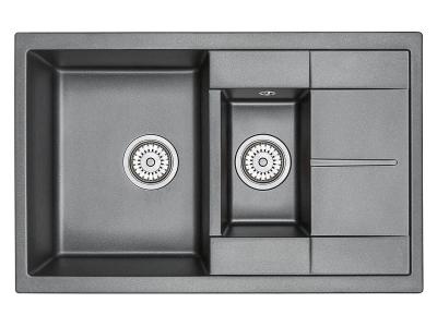 Кухонная мойка Granula 7802 Шварц