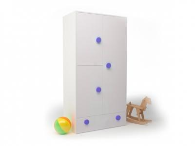 Шкаф створчатый Брусника Синий ДМ-ШС-1-1 932-504-1816