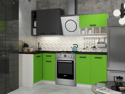 Кухонный гарнитур угловой София Mix Зелёный