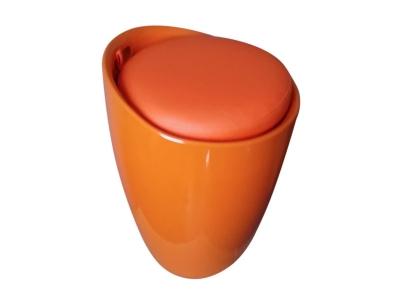 Табурет с местом для хранения Лого LM-1100 оранжевый
